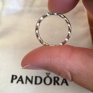 Pandora Jewelry - Pandora Sparkling Leaves Band Ring size 6 (52)